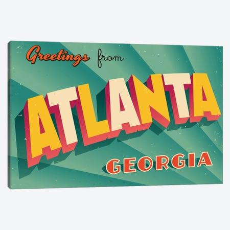 Greetings From Atlanta Canvas Print #DPT197} by RealCallahan Canvas Artwork