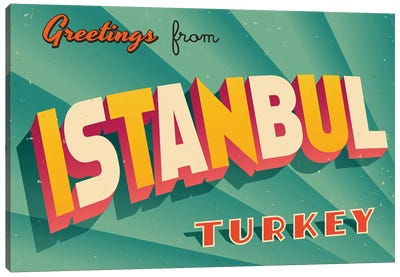 Greetings From Istanbul Canvas Art Print