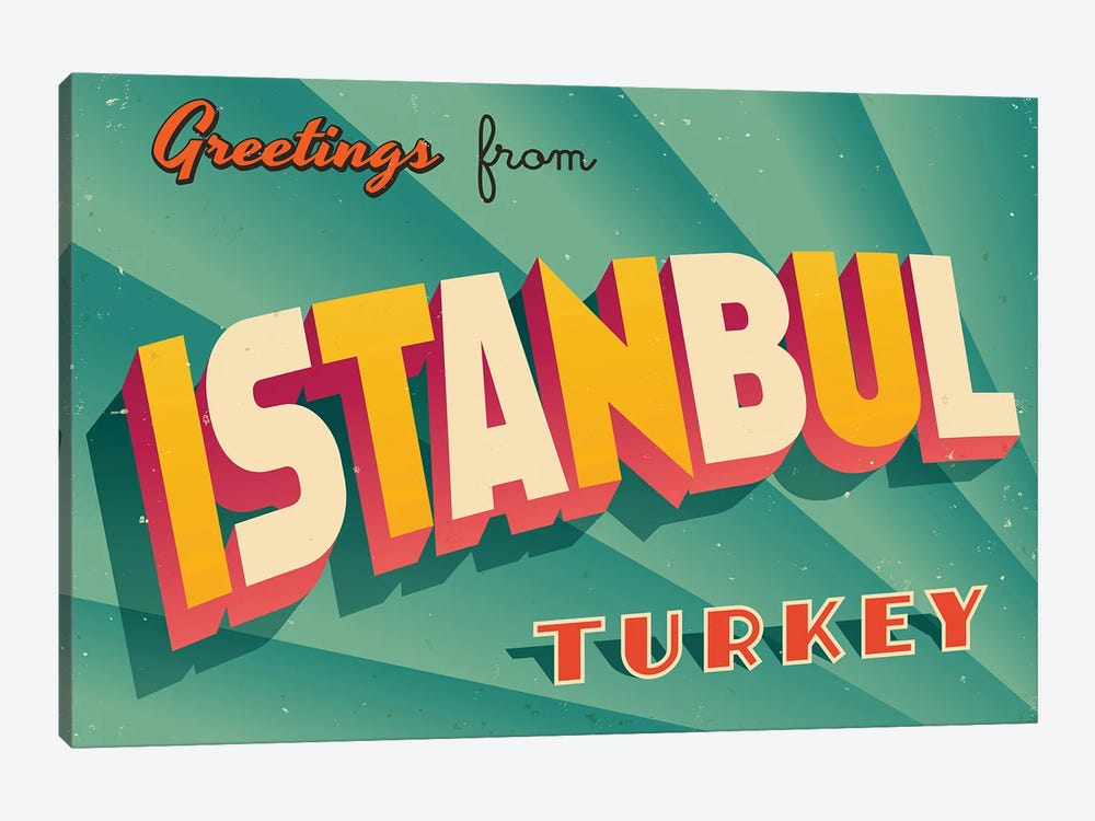 Greetings From Istanbul by RealCallahan 1-piece Art Print