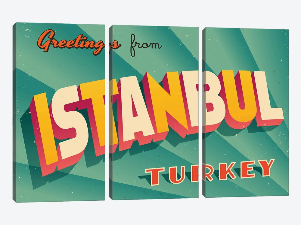 Greetings From Istanbul by RealCallahan 3-piece Art Print