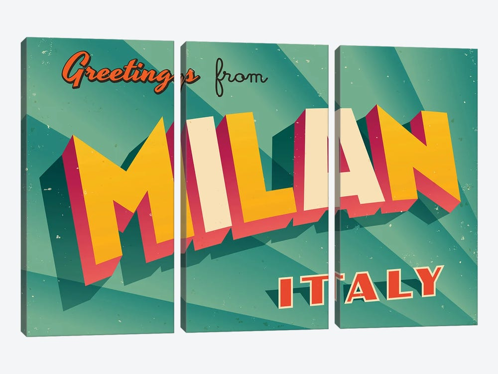 Greetings From Milan by RealCallahan 3-piece Art Print