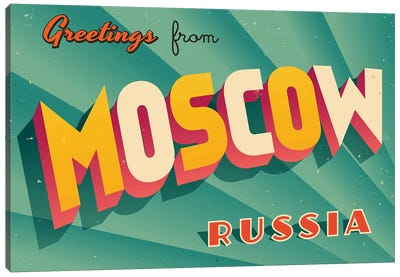 Greetings From Moscow Canvas Art Print