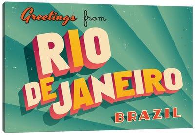 Greetings From Rio de Janeiro Canvas Art Print