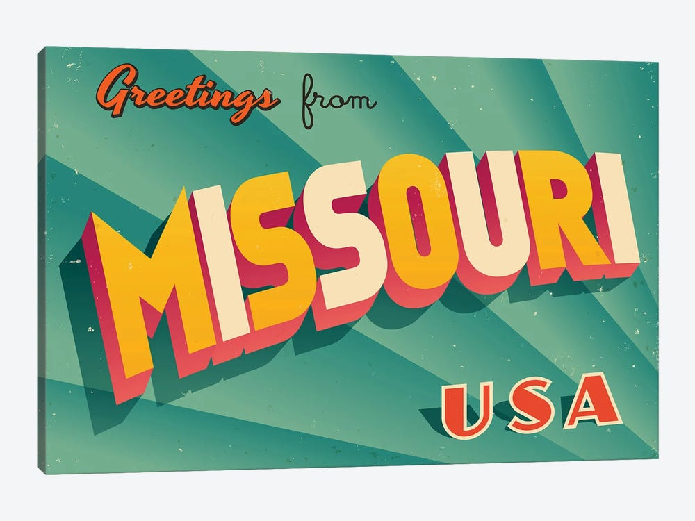 Greetings From Missouri by RealCallahan 1-piece Art Print