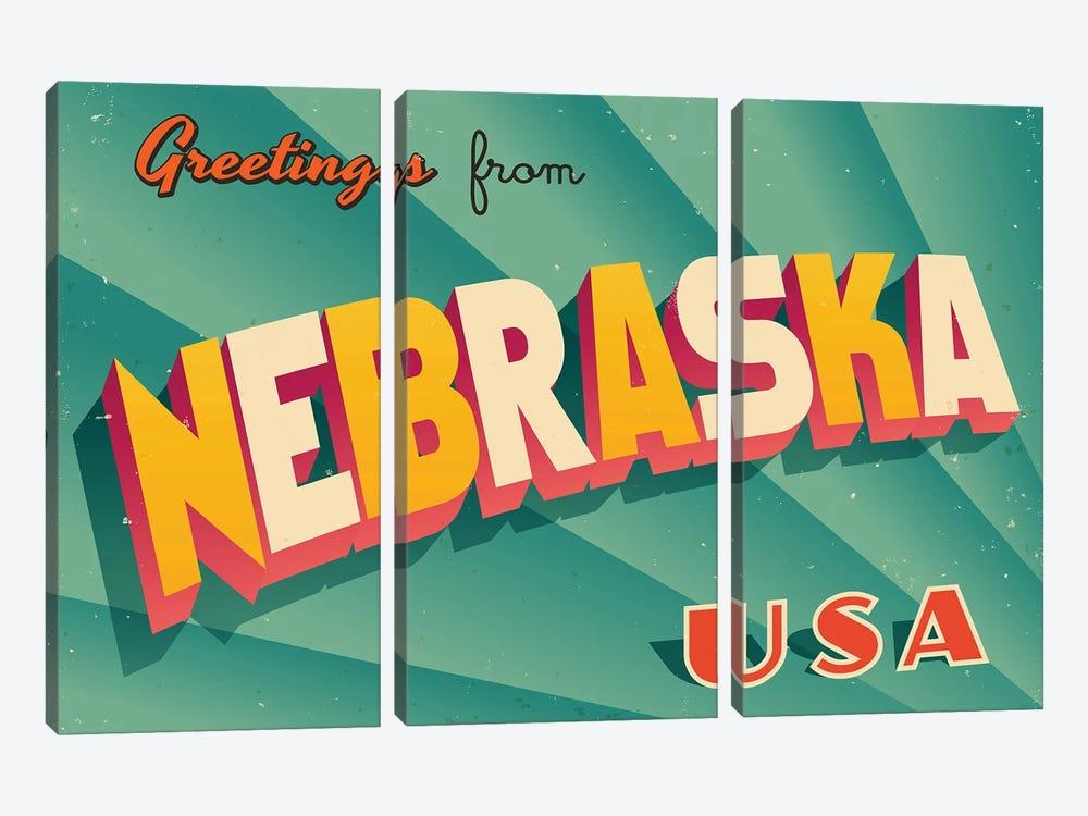 Greetings From Nebraska by RealCallahan 3-piece Art Print
