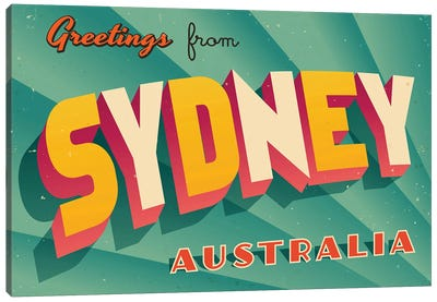 Greetings From Sydney Canvas Art Print