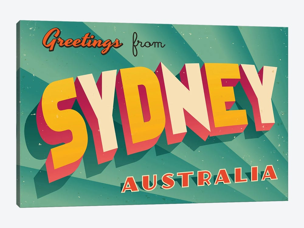Greetings From Sydney by RealCallahan 1-piece Canvas Artwork