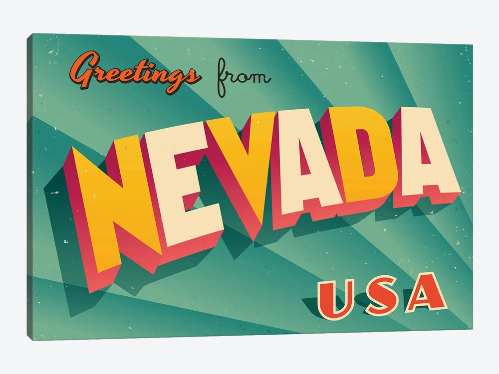 Greetings From Nevada by RealCallahan 1-piece Art Print