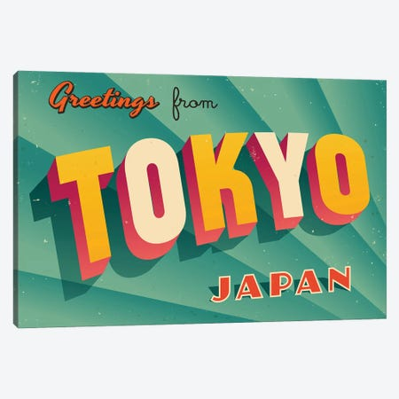Greetings From Tokyo Canvas Print #DPT224} by RealCallahan Canvas Artwork