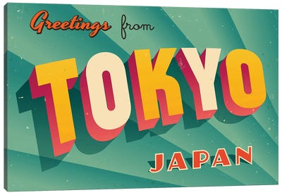 Greetings From Tokyo Canvas Art Print