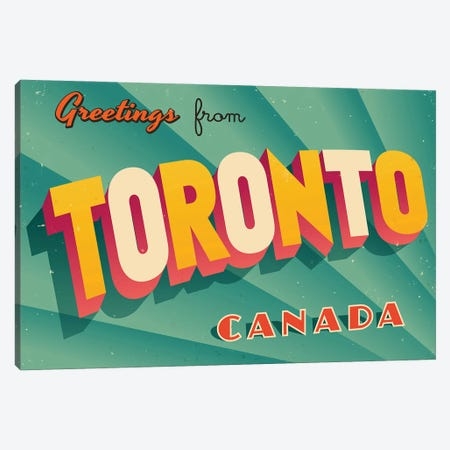 Greetings From Toronto Canvas Print #DPT229} by RealCallahan Canvas Art Print
