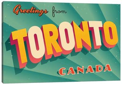 Greetings From Toronto Canvas Art Print