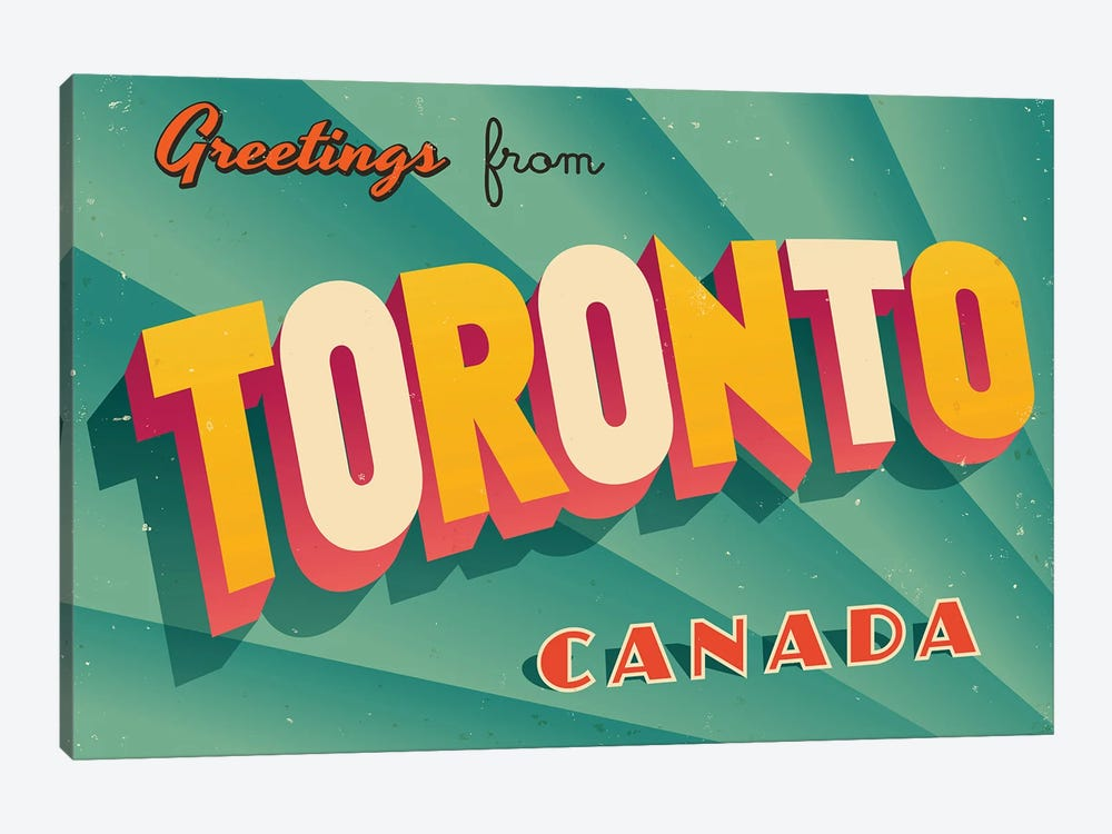 Greetings From Toronto by RealCallahan 1-piece Art Print