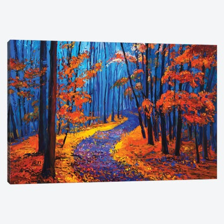 Autumn Landscape Canvas Print #DPT22} by borojoint Canvas Art
