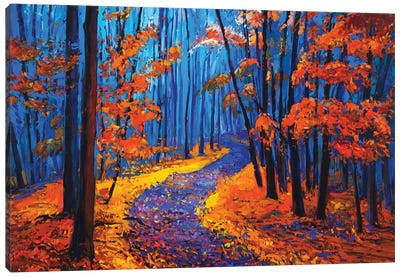 Autumn Landscape Canvas Art Print