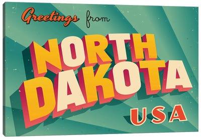 Greetings From North Dakota Canvas Art Print