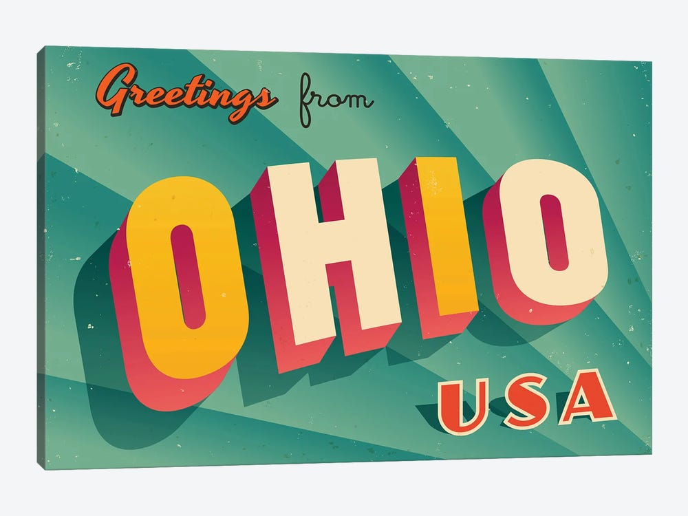 Greetings From Ohio by RealCallahan 1-piece Canvas Print