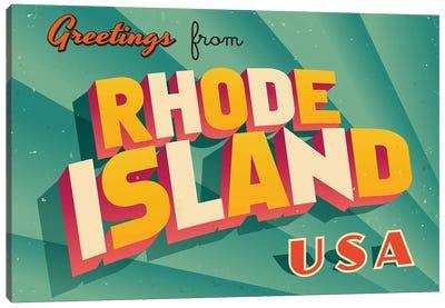Greetings From Rhode Island Canvas Art Print