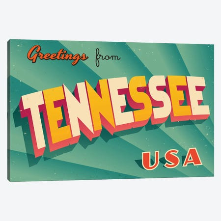 Greetings From Tennessee Canvas Print #DPT242} by RealCallahan Canvas Art Print