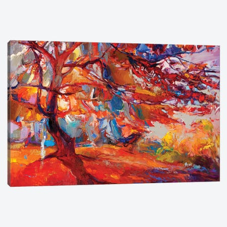 Autumn Tree II Canvas Print #DPT24} by borojoint Canvas Art Print