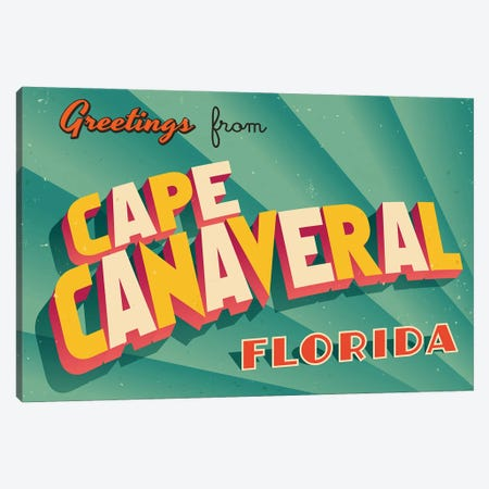 Greetings From Cape Canaveral Canvas Print #DPT250} by RealCallahan Canvas Artwork