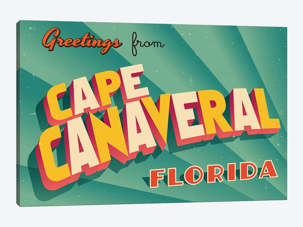 Greetings From Cape Canaveral by RealCallahan 1-piece Art Print