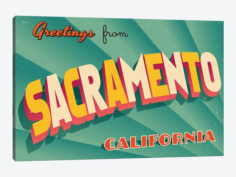 Greetings From Sacramento by RealCallahan 1-piece Art Print
