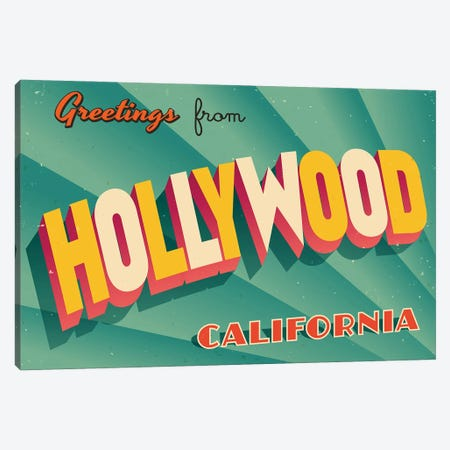 Greetings From Hollywood Canvas Print #DPT257} by RealCallahan Canvas Art Print