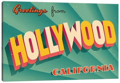 Greetings From Hollywood Canvas Art Print