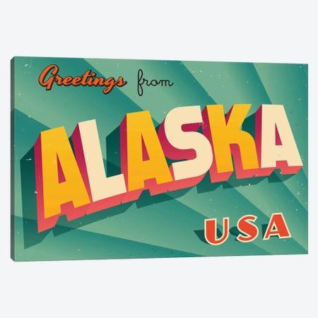 Greetings From Alaska Canvas Print #DPT263} by RealCallahan Canvas Print