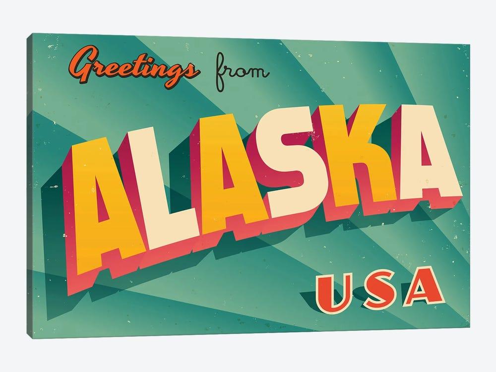 Greetings From Alaska by RealCallahan 1-piece Art Print