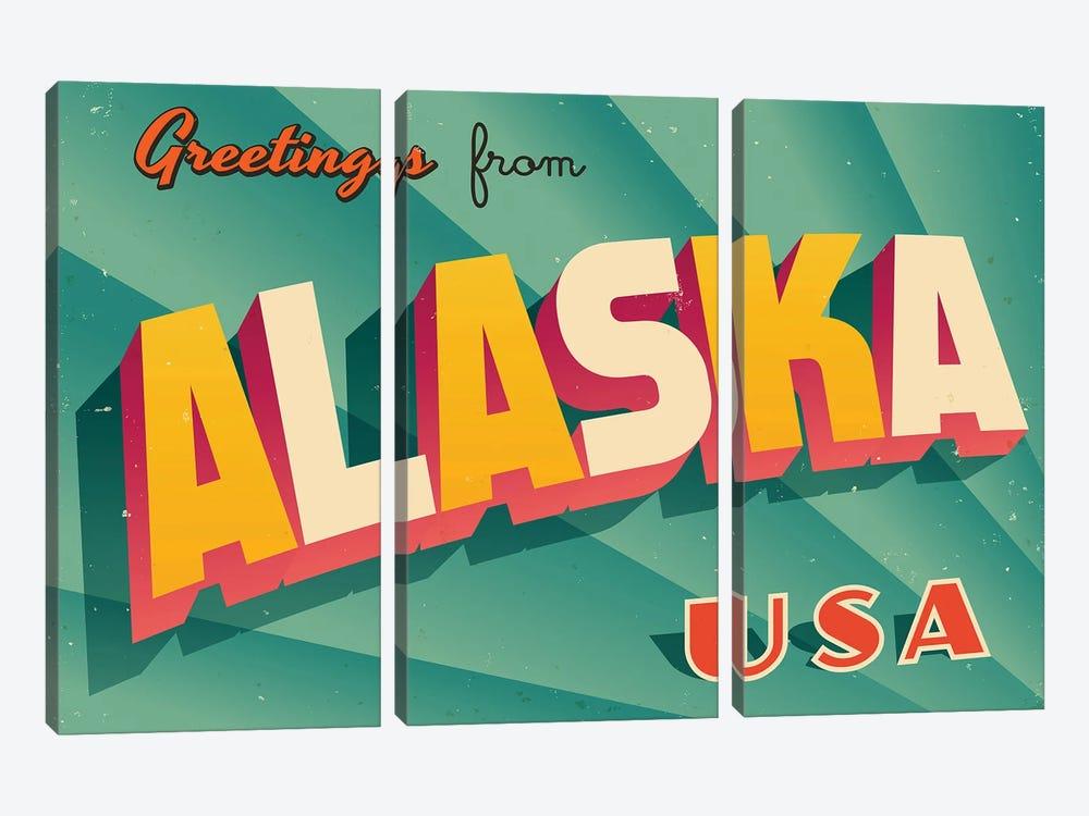 Greetings From Alaska by RealCallahan 3-piece Art Print