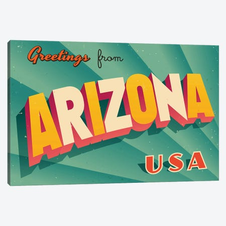 Greetings From Arizona Canvas Print #DPT267} by RealCallahan Canvas Art