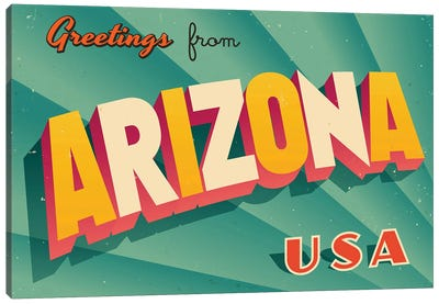 Greetings From Arizona Canvas Art Print