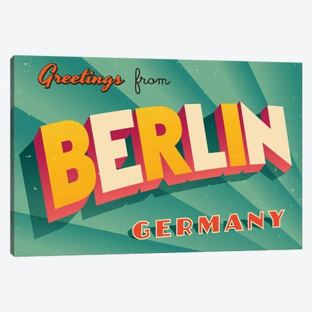 Greetings From Berlin Canvas Print #DPT271} by RealCallahan Canvas Art