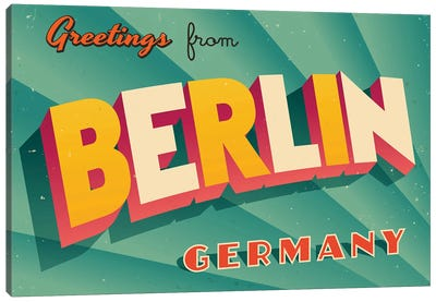 Greetings From Berlin Canvas Art Print