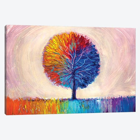 Colorful Tree I Canvas Print #DPT278} by sbelov Canvas Artwork