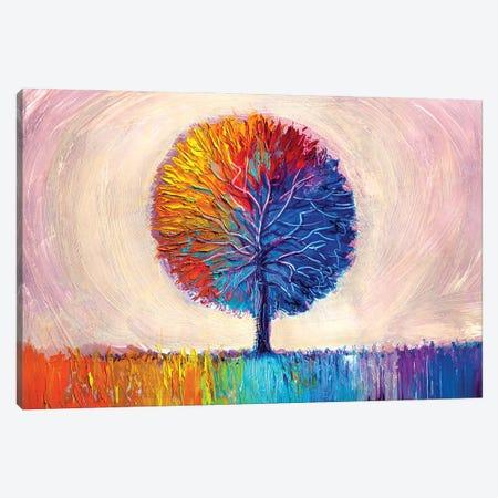 Colorful Tree I Canvas Print #DPT278} by sbelov Canvas Artwork