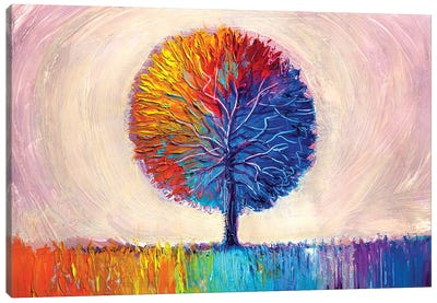 Colorful Tree I Canvas Art Print