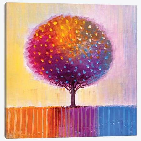 Colorful Tree II Canvas Print #DPT279} by sbelov Canvas Artwork