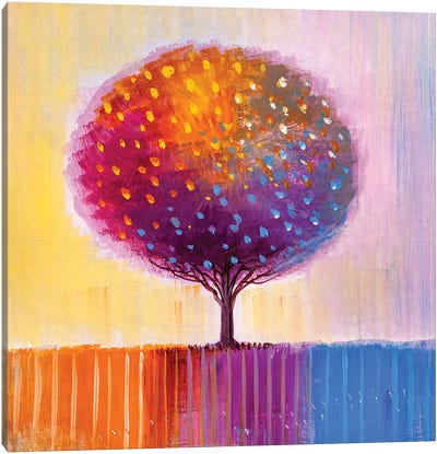 Colorful Tree II Canvas Art Print