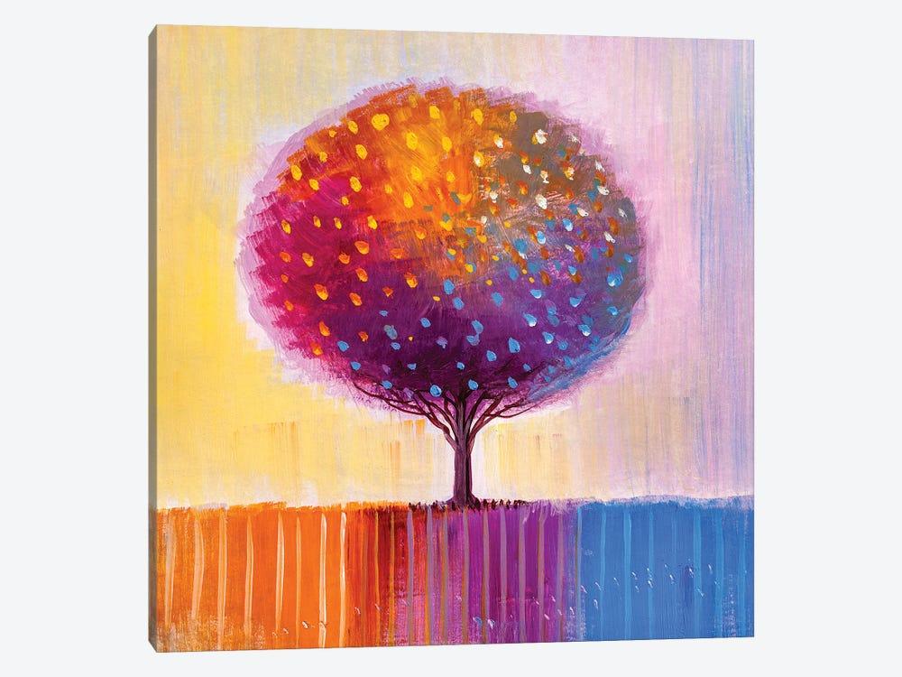 Colorful Tree II by sbelov 1-piece Canvas Artwork