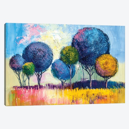 Colorful Trees I Canvas Print #DPT280} by sbelov Art Print