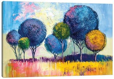 Colorful Trees I Canvas Art Print
