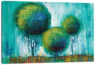Colorful Trees II Canvas Art Print