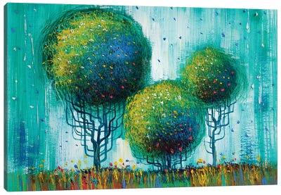 Colorful Trees II Canvas Art Print