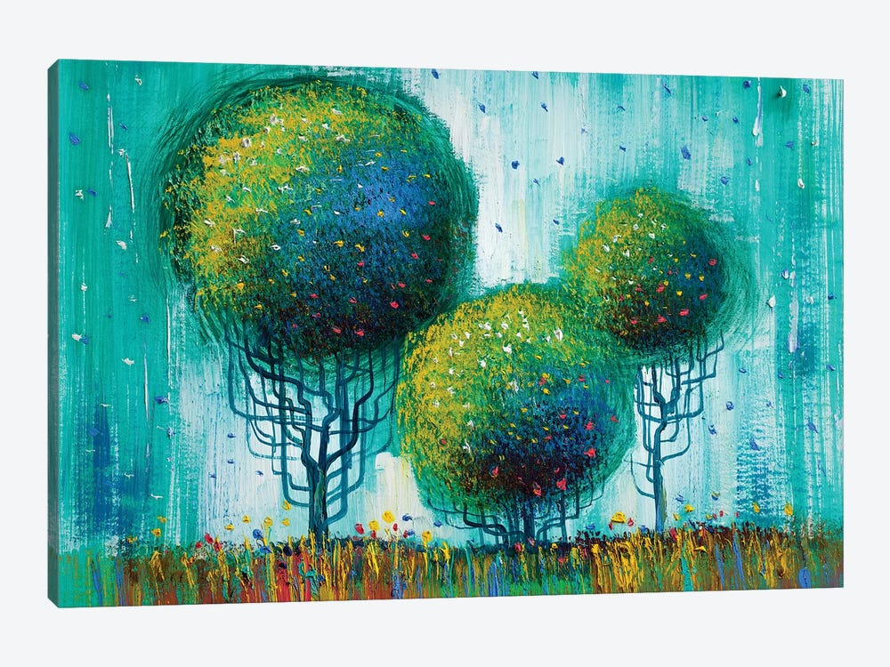 Colorful Trees II by sbelov 1-piece Canvas Print