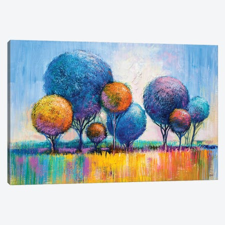 Colorful Trees III Canvas Print #DPT282} by sbelov Art Print