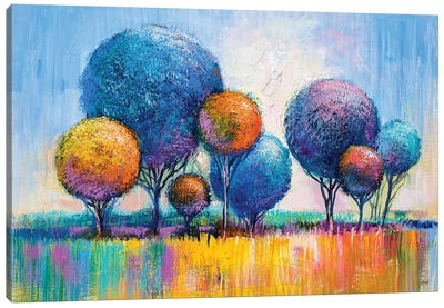 Colorful Trees III Canvas Art Print