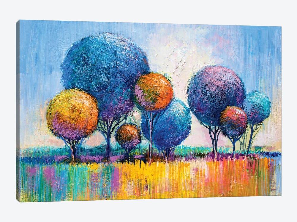 Colorful Trees III by sbelov 1-piece Canvas Art